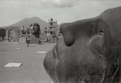 In foro (Myahcat) Tags: pompeii italy forum sculpture 35mm blackandwhite bw film fed4 analogue