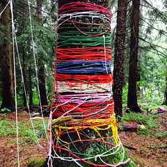 Ympristtaidetta - Enviromental Art (Versacrum) Tags: art enviromentalart forest tuusula colours colourfull fir suomi finland summer nature
