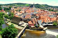 esk Krumlov (Czech) (jens_helmecke) Tags: eskkrumlov tschechien czech moldau flus river wasser water nikon jens helmecke gebude architektur