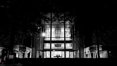 In the shadows (BeyondThePrism) Tags: placevillemarie villemarie entrance glass night light reflection windows large massive lighting shadow shadows office officebuilding blackandwhite blackwhite black dark bright bw noir noiretblanc beyondtheprism beyond wwwbeyondtheprismcom prism castonguay castonguayjeanphilippe jpcastonguay jeanphilippecastonguay jpc montreal quebec canada downtown city streets street streetphotography trees tree treeline streetlights brightness darkness darkened contrast stark university universitystreet glow silhouette fujifilm fuji fujix70 x70 mirrorless gate doors window seethrough garnd grand largerthanlife great center centreofthecity