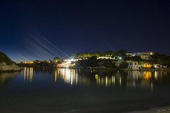 Cala Santandria at night (JW.Andrews) Tags: night nighttime nightphotography nightscape seascape waterscape longexposure exposure long slowershutterspeed holiday vacation menorca cala santandria calasantandria ciutadella spain minorca balearic islands balearicislands mediterranean sea