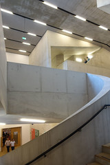 Tate Modern, Switch House 7, London by Herzog & Meuron (Iqbal Aalam) Tags: herzogdemeuron tatemodern artgallery competitionwinner oldpowerstation oldoiltanks switchhouse bankside banksidepowerstation stairs circularstairs herzogmeuron