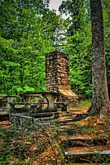 Picnic Area, Cloudland Canyon State Park, Trenton, Georgia (BDM17) Tags: picnic bench area grill barbecue steps brick masonry stone woods cloudland canyon state park trenton georgia ga