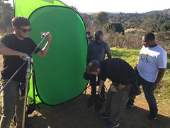 On set with Glass+Marker (rachelzader) Tags: backstage modeling onset set greenscreen hollywood acting models film