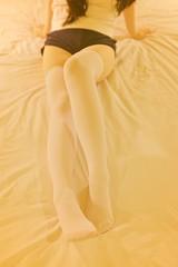 Goognight (Harley Trn) Tags: animegao behindthescenes body bts cute faceless girl indoor kigurumi kneehighsocks kneesocks legging legs mask overknee overkneesocks socks tights white zentai zettairyouiki