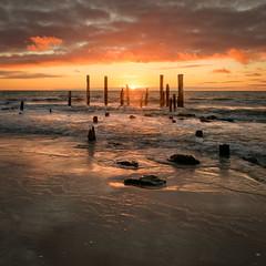 Dramatic Sunset (Yuga Kurita) Tags: sa australia sunset south port willunga adelaide travel jetty pylons wood wooden sea seascape