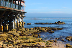 Bayside Seating (Art By Pem Photography: Tao Of The Wandering Eye) Tags: fineartphotography canon canoneosrebelsl1 eos sl1 california monterey bay bayside water ocean rocks sealevel blue sky nature color colour colors colours usa texture travel scenery scenicsnotjustlandscapes