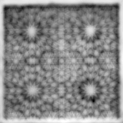 Blurry Abstract Photo Of A Window In Black And White From Dowlat Abad in Yazd, Iran ($ALEH) Tags: islam wood window world white iran blurry travel culture attraction middle history artistic wooden interest shah east persia persian pattern black asia muslim tourist dowlat abad yazd atom microscope quasicrystal highcontrastblackandwhite bw psychedelic
