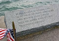Tragedy (D. Brigham) Tags: castleisland fortindependence southboston americanflag memorial spanishamericanwar military navy war death heroism heroic harbor mines