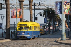 Muni 1010 Ferry Building 09-09-2016 (Spoorhaar) Tags: ferrybuilding advertisement opera advertentie reclame werbung tram tramlijn streetcar strassenbahn doubleended tweerichtingwagen heritage eline sanfrancisco francisco stad city pcc electric trolley tramway muni municipal