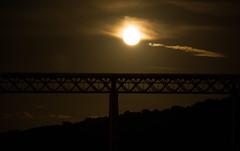 Moonrise over the Forth Rail Bridge #2 (Claire Stones) Tags: forthrailwaybridge october scotland huntersmoon fullmoon moon firthofforth nikon forthrailbridge forth