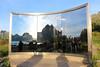 """""""Uten Tittel"""" (""""Untitled"""") - Dan Graham, 1996 (5) (Phil Masters) Tags: 21stjuly july2016 norwayholiday norway utentittel untitled dangraham sculpture mirror vågan vagan austvågøya austvagoya austvågøy austvagoy lofoten"""