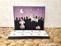 Boooooo! LF halloween pop up card 2 (fridayfinally) Tags: lawnfawndies lawnfawnstamp lawnfawn lawnfawnstamps happyhowloween happyhalloween copicmarkers copic copics distressink nightsky starrynight boooooo dachshund dogs dog superhero black purple mummy witch violet winkofstella ginghambackdrops interactivecard popupcard