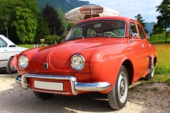 Renault Dauphine (alex73s https://www.facebook.com/CaptureOfAlex?pnr) Tags: auto automobile car ancienne automotive coche classic canon voiture vehicule transport rassemblement retro renault red rouge dauphine old oldcar european europeenne french francaise macchina meeting