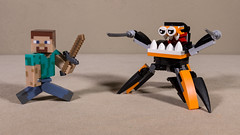 Lego and Minecraft (Busted.Knuckles) Tags: home toys lego mixel minecraft miniature canonsl1
