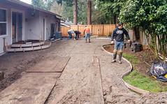 20160125_103857 (ajbservice) Tags: concrete patio retainingwall woodfence