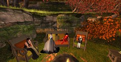 Family chat about Pirates....mmmmm Pirates... (Allie Carpathia) Tags: family chat outdoors home witch autumn halloween mother daughter sisters aunt son secondlife firstmeeting siblings