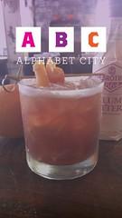 Pleasantly Plump Old- Fashioned (boozybasia) Tags: poconyc nyc manhattan nyccocktails alphabetcity cocktails plum bitters fallcocktail cocktail whiskey bourbon oldfashioned