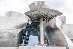 Guggenheim-Bilbao north II (Rainer ❏) Tags: guggenheimmuseum frankogehry architektur arquitectura architecture bilbao baskenland provinzbizkaia bayofbiscay biskaya ngc españa spanien spain espagne color sommer2016 rainer❏