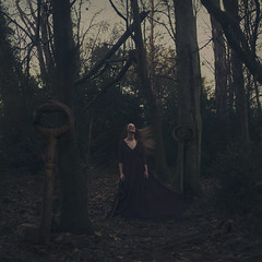 the keeper of keys. (Thomas Oscar Miles) Tags: fineart squareformat portrait surreal conceptualphotography darkart light keys magic beauty woodlands message thought thomasoscarmiles nikon photography art photoshop metaphor