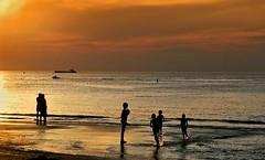 Enfants plage de Groede (Marc ALMECIJA) Tags: beach playa plage orange sunset sunrise poeple neederland hollande