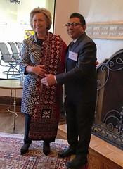 Hillary Clinton wearing the 5000 year odl Sindhi Ajrak wrap (GlobalCitizen2011) Tags: sindh sindhi sind sindhiclothing hillary clinton ajrak indusvalleycivilization symbols indus valley civilization