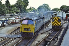 Loco D1053  |  St Austell, Cornwall UK  |  1976 (keithwilde152) Tags: class52 westerns thousands staustell cornwall uk 1976 station town passenger train platforms tracks diesel locomotives outdoor summer