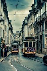 Portugal - Lisbon cable car (mho.online) Tags: portugal westküste lissabon stadt town city place platz eos 600d sigma 18200 sonne sun wolken clouds meer sea atlantic ocean river tako tejo blue blau sauber himmel sky cable cars strasenbahn wolkig cloudy grey rainy grau regnerisch car lisbon