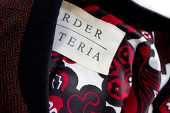 Mens Herringbone Jacket. Lining Detail. Now available. (OrderMateria) Tags: menswear mens mensfashion mensstyle lining label jacket herringbone order materia ordermateria wool