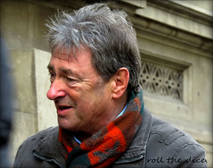 `1847`Alan Titchmarsh (roll the dice) Tags: london westminster wc2 coventgarden streetphotography gardener londonist celebrity tv host chat mbe media agricultureandhorticulture uk art classic close face television stranger candid portrait funny block camera canon tourism journalist dirty garden man urban unaware unknown people hair natural fashion shops cold winter scarf feature filming location famous