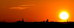 Angoulme International Comics Festival (Jean-Luc Peluchon) Tags: fz1000 lumix panasonic sunset sunrise sun red shadow town panoramic cloud landscape minimalism color