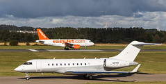 N117MS Global 5000, Edinburgh (wwshack) Tags: airbus edi egph edinburgh edinburghairport scotland turnhouse easyjet executivejet businessjet corporatejet bombardier bd700 global5000 n117ms