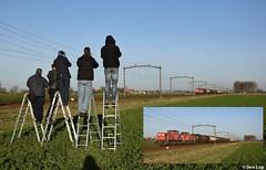 Concentration, freight train is coming! (Derquinho) Tags: trainspotting trein treinen fotograferen train spotting