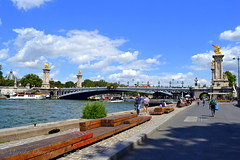 A walk along Seine river bank (Yummilicious Cakes & Desserts) Tags: seine river france paris people sky blue beautiful travel vacation
