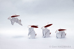 うさぎ / Rabbit (2016) (Gen Hagiwara) Tags: origami paper folding genhagiwara animal wildlife rabbit bunny