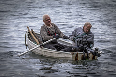 No Frills (Paul Rioux) Tags: people men old senior boat dinghy vessel oars row outboard motor marine outdoor prioux