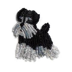 MINIATURE SCHNAUZER keepsake beaded dog pin pendant art jewelry (The Lone Beader) Tags: beads beadwork beadembroidery etsy amazonhandmade dogs dogjewelry miniatureschnauzer terrier beading beaded animal shopping holidaygifts stockingstuffer