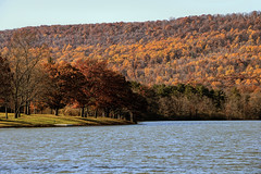 sky, earth and water (Sky_PA (On and Off)) Tags: memoriallakepark pennsylvaniastateparks landscape autumn fall trees tree water lake sky amateurphotography colorful canon canoneos rebelt6i t6i outdoor nature inspiredbylove orange pennsylvania lebanonpa view efs18135mmf3556isstm