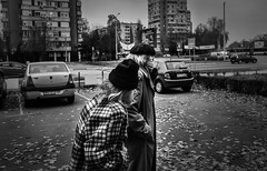 Forever together (Master Iksi) Tags: people old couple blackandwhite beograd belgrade srbija serbia walk walking outdoor novibeograd canon 700d street streetphotography