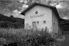 Alter Bahnhof (Holgi_BS_63) Tags: salzschlirf badsalzschlirfhessen deutschland vogelsberg landkreis fulda schwarz weiss
