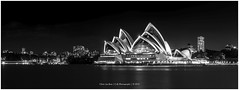 Sydney Opera House by Night, Australia (CvK Photography) Tags: australia autumn bw canon city cityscape cvk fall holiday newsouthwales night reflection sydney sydneyoperahouse milsonspoint australi au