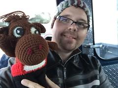 IMG_2167 1 (The Crochet Crowd) Tags: crochetmoose amigurumi moose crochet doll alaska britishcolumbia thecrochetcrowd michaelsellick jeannesteinhilber danielzondervan crochetcruise mooseontheloose