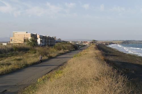 View towards the salt factory, 09.10.2014.