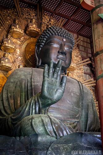 15 metrowy Budda z brązu w świątyni Todaiji
