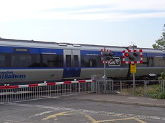 Antrim Station Level Crossing, 13th of August 2015 (nathanlawrence785) Tags: station train crossing railway belfast cctv class level lc translink caf nir antrim 4000 gv dmu ahb 4003 4503 gvs c4k