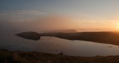 untitled-3848 (Brynja J.) Tags: sunset sea fog landscape island iceland breiafjrur