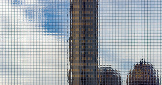 Architectural reflection abstract