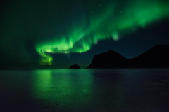 Bright Lights (MrBlackSun) Tags: beach norway nikon aurora northern lofoten northernlights auroraborealis d810 haukland