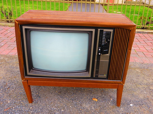 1970s/80s Sanyo Telecolor Television on the kerb - Church St
