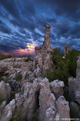 Monolith (John Niehuss) Tags: california county sunset lake west colors clouds canon mono sierras eastern tufa 1635 inyo